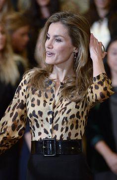 Princesa Letizia | Letizia Ortiz, hermosa con su look felino - Yahoo OMG! México