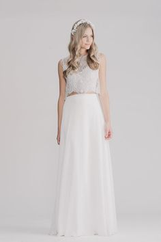 Boho Wedding Dress by RISH Valeria Gown Front // Follow us on Instagram: @thebohemianwedding