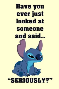 Funny Disney Jokes, Funny Minion Memes, Funny Texts, Funny True Quotes, Sarcastic Quotes, Cute Quotes, Qoutes, Lilo And Stitch Memes, Stich Quotes