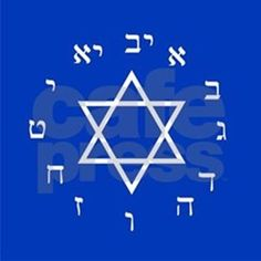 "This ""Hebrew Numeral Wall Clock"" from Clock Planet features letters of the Hebrew alphabet that make up the numbers 1 to 12, and a design based on the flag of Israel."