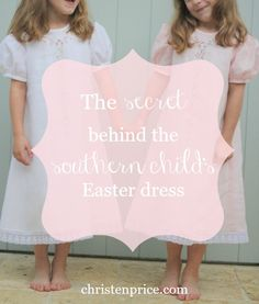 Detailed look at heirloom Easter dresses and the reason why southern mamas love to dress their kids in them