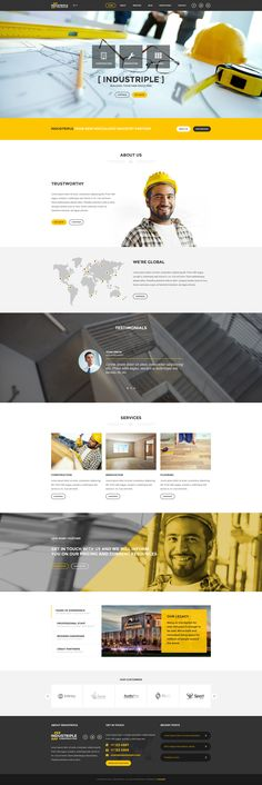 Industriple Multi Industrial Template #building #company #construction #constructor #contractor #$17