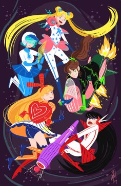 Sailor Senshi in Space!