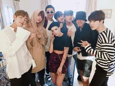 BTS with Halsey. She brought them churros!