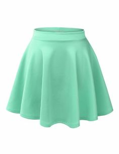 Amazon.com: LE3NO Womens Basic Versatile Stretchy Flared Skater Skirt: Clothing $21.00