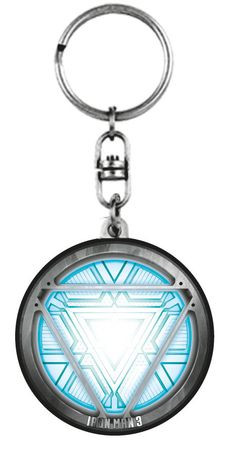 Iron Man Arc Reactor Pewter Keychain - Sunset Key Chains