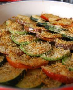Low FODMAP Vegetarian Recipe and Gluten Free Recipe -  Gratin of roasted Mediterranean vegetables