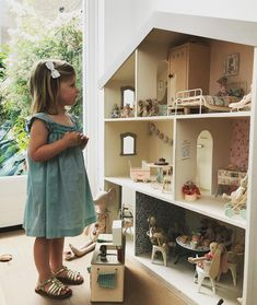 Pin on Maileg Ikea Dollhouse, Wooden Dollhouse, Bookshelf Dollhouse, Victorian Dollhouse, Big Doll House, Barbie Doll House, Little Girl Rooms, Wood Toys, Play Houses