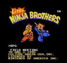 Little Ninja Brothers (USA) Title Screen