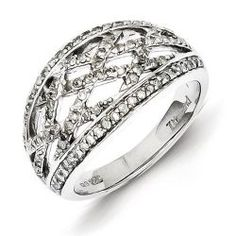 Gold and Watches Sterling Silver Diamond Ring