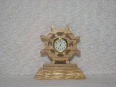 Ships Wheel clock | wfwoodworks - Woodworking on ArtFire