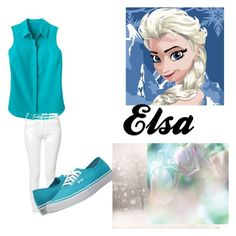 """""""Elsa in the Spring"""" by apineappleneko ❤ liked on Polyvore featuring TravelSmith, Mother and Vans"""