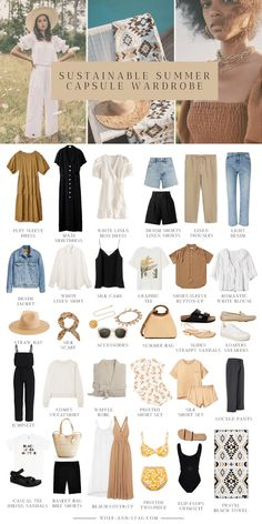 Capsule Outfits, Fashion Capsule, Mode Outfits, Fashion Outfits, Capsule Wardrobe Summer, Travel Outfits, Travel Wardrobe Summer, Fashion Tips, Fashion Mode