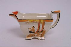 A rare Art Deco Burleigh Ware 'Pan' pattern teaset in tn the orange colourway, comprising six cup Art Deco, Oct 2016, The Saleroom, Floral Theme, Coffee Set, Milk Jug, Pattern Names, Teapots, Sugar Bowl