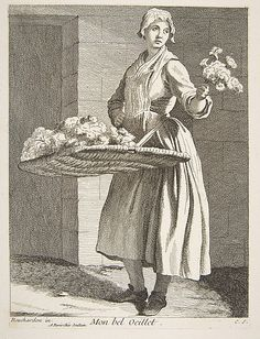 Flower Vendor Anne Claude Philippe de Tubières, Comte de Caylus (French, Paris 1692–1765 Paris)