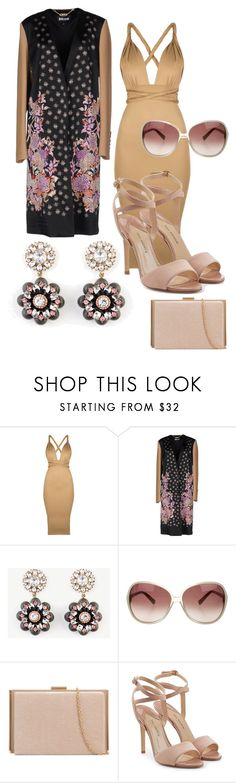 """""""halfway to Tokyo"""" by bernadettekrasniqi ❤ liked on Polyvore featuring Just Cavalli, Ann Taylor, Oliver Peoples and Paul Andrew"""