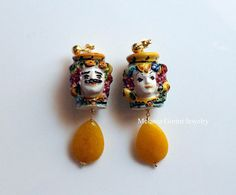 I MORI vermeil earrings with authentic handmade ceramics of
