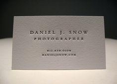 Daniel j Snow Letterpress Business Cards