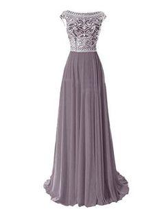 Tidetell Elegant Floor Length Bridesmaid Cap Sleeve Prom Evening Dresses Grey Size 2 Tidetell http://www.amazon.com/dp/B00R5DQ7A2/ref=cm_sw_r_pi_dp_pz8Gvb09X3D5M