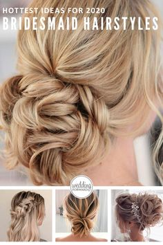 48 Hottest Bridesmaid Hairstyles For 2020 + Tips & Advice ❤ Check out bridesmaid hairstyles for any hair length here. Inspiration for elegant updos, curls and even mismatched hairstyles for your girls. #weddingforward #wedding #bride #weddinghairstyles #WeddingHair #BridesmaidHairstyles Bridesmaid Hair Down, Bridesmaid Hairstyles, Wedding Hairstyles, Girl Haircuts, Haircuts For Men, Big Barrel Curls, Easy Hairstyles, Hairstyles 2018, Elegant Updo