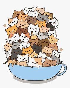 gif kitty cat pretty art animals cute fluffy anime japan japanese ...