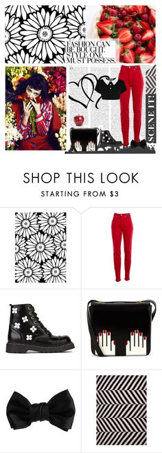 """""""PARADISE"""" by lexypup ❤ liked on Polyvore featuring Versace Jeans Couture, T.U.K., Lulu Guinness, Dorothy Perkins, Killstar and Jaipur"""
