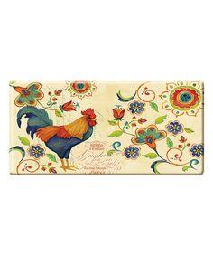 Love this Natural & Blue Rooster Kitchen Mat by Apache Mills on #zulily! #zulilyfinds