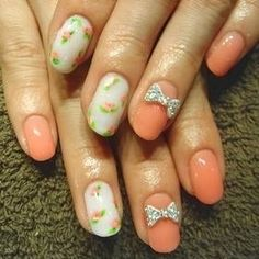 How #precious are these bow-accented #nails?! #EventSpark