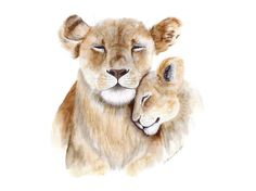 Lion lioness cub want this in tattoo on my arm