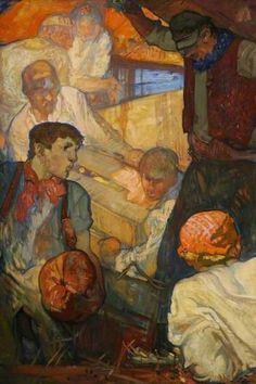 Loading the Boat by Frank Brangwyn Oil on canvas, 191.6 x 129.9 cm Collection: Museums Sheffield