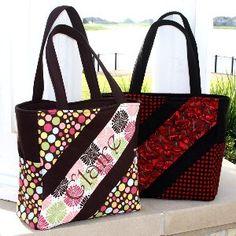 Diagonal Diaper Bag and Purse