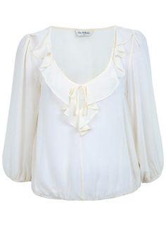 9c6deea1ec973 Cream Frill 3 4 Sleeve Top All Sale