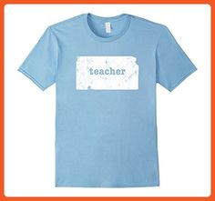 Mens Kansas Funny Teacher TShirts For Women & Men 3XL Baby Blue - Careers professions shirts (*Partner-Link)