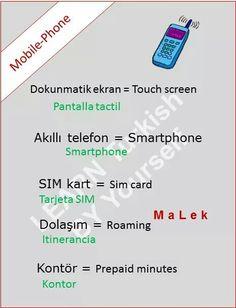 Cellphone in Turkish