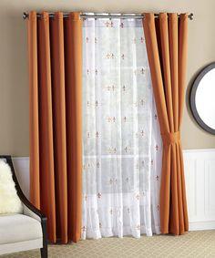 Delicieux Six Piece Burnt Orange Fleur De Lis Blackout Curtain Set #zulily  #zulilyfinds