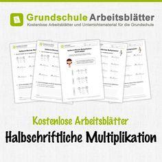 Kostenlose Arbeitsblätter und Unterrichtsmaterial für den Mathe-Unterricht zum Thema halbschriftliche Multiplikation in der Grundschule.