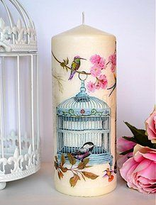 Candle Art, Candle Magic, Candle Lanterns, Homemade Candles, Diy Candles, Pillar Candles, Decoupage, Rope Decor, Candle Accessories