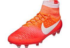 Nike Womens Magista Obra FG Soccer Cleats - Bright Crimson & White | SoccerMaster.com