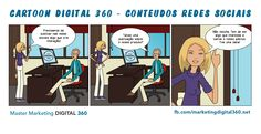 Cartoon Digital 360 - Conteúdos Redes Sociais - Master Marketing Digital 360