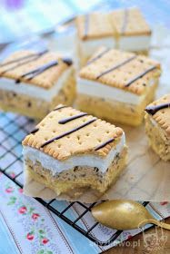 Anyżkowo: Cake with sunflower seeds and whipped cream Sweet Recipes, Cake Recipes, Snack Recipes, Dessert Recipes, Cooking Recipes, Poland Food, Wafer Cookies, Happy Foods, Homemade Cakes