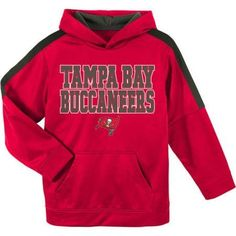 NFL Tampa Bay Buccaneers Youth Hooded Fleece Top, Boy's, Size: Small, Red