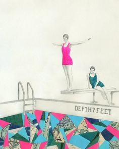 """""""deep"""" lisa congdon.   100% of the proceeds for the sale of this print go to support Charity Water, a non-profit organization bringing clean and safe drinking water to people in developing nations."""