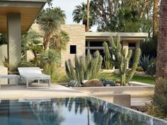 Having a pool sounds awesome especially if you are working with the best backyard pool landscaping ideas there is. How you design a proper backyard with a pool matters. Modern Landscape Design, Garden Landscape Design, Modern Landscaping, Contemporary Landscape, Backyard Landscaping, Landscaping Design, Desert Landscape, Modern Planting, Modern Backyard