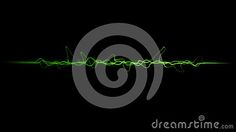 Green color dynamic lines modern abstract business background