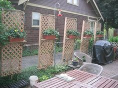 idea to help hide chain link fence - Garden Ideas To Hide Fence