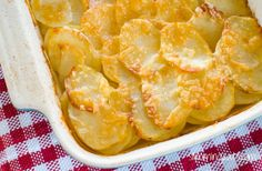 Everyone loves a cheesy garlicky potato gratin and this one will not disappoint. The whole family will love this - great served with various sides.