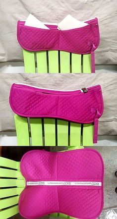 Saddle Pads 183377: Hot Pink English Cotton Correction Half Pad -4 Velcro Pockets With Foam Inserts -> BUY IT NOW ONLY: $34.95 on eBay!
