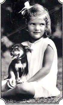 Jackie Kennedy as a little girl.