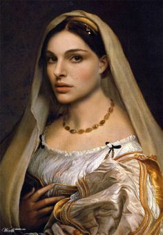 Natalie Portman (Celebrities edited into classic works of art)