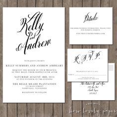 Printable Wedding Invitation Suite - the Tilly Collection by HowLovelyPaper on Etsy https://www.etsy.com/listing/191045162/printable-wedding-invitation-suite-the
